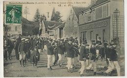 Mesnil St Denis La Fete De Jeanne D' Arc 5/3/1911 Coll. H . Durand  Fanfare Commerce De Vins Billard - Le Mesnil Saint Denis