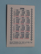Kalender 1990 Oostblok / Eastern Europe ( Details - Zie Foto´s Voor En Achter ) !! - Calendriers