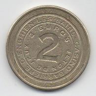 Lot De 2 Jetons De Slot Machine à Sou : Casino Barrière D' Enghien-les-Bains 1 Euro & 2 Euros - Casino