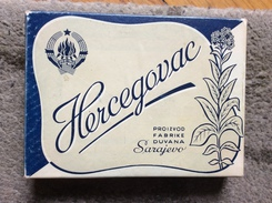EMPTY  TOBACCO BOX     CIGARETTES   CIGARETTE   HERCEGOVAC   SARAJEVO  FNRJ   YUGOSLAVIA - Boites à Tabac Vides