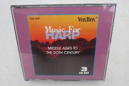 """3 CD Set """"Music For Harp"""" Middle Ages To The 20th Century - Instrumental"""