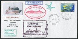 2005 MS Hanseatic Ship Cover. Seychelles Victoria Mahe Salalah La Digue - Seychelles (1976-...)