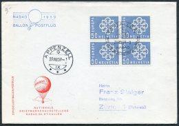 1959 Switzerland Nabag Ballon Postflug St Gallen - Appenzell Cover - Switzerland