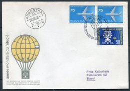 1960 Switzerland Ballon Flugpost Flight Cover. Neuchatel Langenthal - Covers & Documents