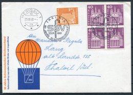 1961 Switzerland Ballonflug Balloon Flight Cover. Thalwil - Herisau, Blindenverband - Switzerland