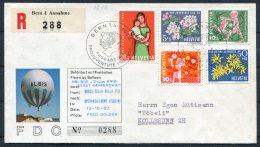 1962 Switzerland Ballonflug Balloon Flight Reg. Cover. Bern Pro Juventute, Bosco Della Bella - Speranza Italy Rapperswil - Covers & Documents