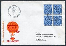 1964 Switzerland Ballonflug Balloon Flight Cover. Europa Lausanne - Covers & Documents