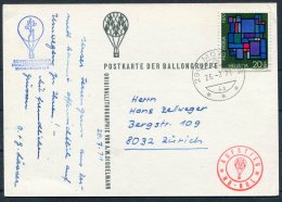 1971 Switzerland Ballonflug Balloon Flight Postcard. Swiss Disabled Sports Magglingen - Covers & Documents