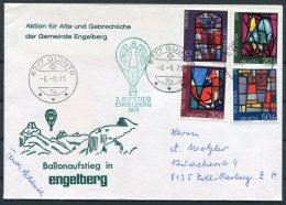 1971 Switzerland Ballonflug Balloon Flight. Quinto Engelberg Pro Patria Signed Angel Cover - Switzerland