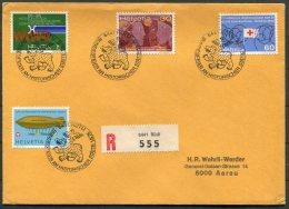 1975 Switzerland Rutli Rotli Registered Bundesfeier An Historischer Statte Bear Bird Cover - Covers & Documents