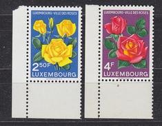Luxemburg 1956 Luxemburg Ville Des Roses 2v  (corner) ** Mnh (34043C) - Luxemburg
