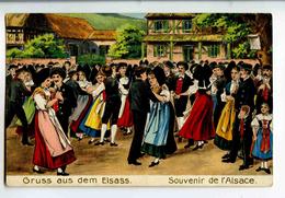 A 18829   -   2 Cartes  -  Gruss Aus Dem Elsass-Lothringen  -  Souvenir De L'Alsace-Lorraine  -  Gaufrées  -  Litho. - Europe