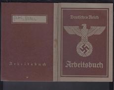 Deutsches Reich Arbeitsbuch Arbeitsamt Mainz Nebenstelle Rüsselsheim 12.2.1943 Super Zustand! - Historische Dokumente
