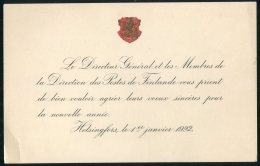 1922 Finland Post Office Offical New Year Card