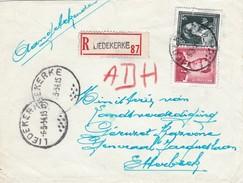 N° 925 + 696  / Lettre Recommandée De LIEDEKERKE 6 5 54 - 1953-1972 Lunettes
