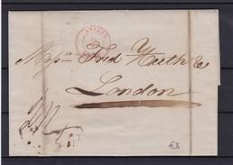 Lettre Avec Contenu D ' ANVERS Vers LONDRES Sept.1845 - 1830-1849 (Belgique Indépendante)