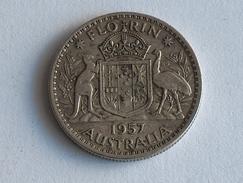 AUSTRALIE 1 FLORIN 1957 ARGENT SILVER Australia - Monnaie Pré-décimale (1910-1965)