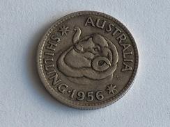 AUSTRALIE 1 Shilling 1956  ARGENT SILVER Australia - Monnaie Pré-décimale (1910-1965)