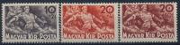 **Hungary 1940 Mi 629-31 (3) Flood Waters Hochwasser MNH - Ungebraucht