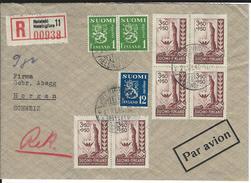 R-Brief Helsinki 21.11.47 Nach Horgen CH - Storia Postale