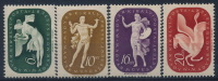 **Hungary 1940 Mi 643-46 (4) Help Arts Music Painting Poesy MNH - Ungarn