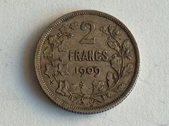 BELGIQUE 2 FRANC F 1909  ARGENT SILVER Belgium Francs - 1865-1909: Leopold II