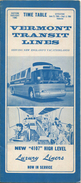 Time Table 1966 - Vermont Transit Lines - 8 Seiten - Welt
