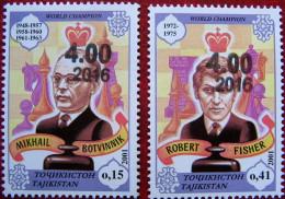 Tajikistan  2016   Chess  Overprint  2 V  MNH - Tajikistan