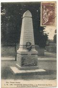 Valenton Le Monument Des Morts Grande Guerre Edit Vincent Voyagé Timbre Surtaxe 65 C + 25 C Pour Sauver La Race Racisme - Valenton