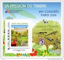 FFAP N°  11  De 2016 - Bloc Dentelé Autoadhésif - La Passion Du Timbre - Congrès à Paris, Muséum D´histoire Naturelle - FFAP