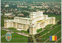 Palace Of Parliament. Bucharest (the Lagest Building In The World For Civilan Use), Postcard Addressed To ANDORRA - Monuments
