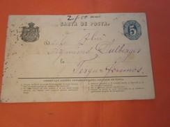 1890 Timbre  Romana Roumanie Europe   5 Cinci Bani  Carta De Posta Carte Lettre Correspondance Entiers Postaux   Fergu - Ganzsachen