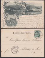 Morchenstern Smrzovk Jablonez Gruß Aus Karte 1901 Sudeten, Fabrik Kirche Ort - Sudeten