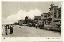 14 : LION SUR MER - LA DIGUE ET LA SALLE DES FETES - France