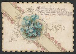 Bloemen Fleurs Mignonette Gaufrée 11 X 8cm - Vieux Papiers