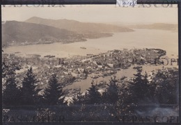 Bergen - Vue D'ensemble En 1916 ( Photo Originale O. Svanöe) (format 10,5 / 15,5 Cm) (A 1222) - Norvège