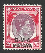 Malaya, BMA, Straits Settlements 25 C. 1945, Sc # 266, Mi # 10, MH - Malaya (British Military Administration)
