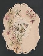 Mignonette Gaufrée Paillettes   1902  12 X 9 Cm - Nouvel An