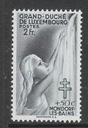 TIMBRE NEUF DU LUXEMBOURG - EMIS AU PROFIT DES TUBERCULEUX N° Y&T 333 - Disease