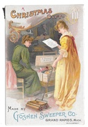Victorian Trade Card A Christmas Gift Goshen Manual Push Carpet Sweeper Grand Rapids MI - Other