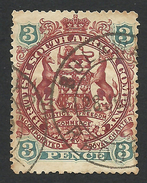 Rhodesia, British South Africa Company, 3 P, 1897, Sc # 53, Mi # 52, Used, Bulawayo - Great Britain (former Colonies & Protectorates)