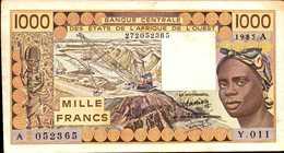 C OTE D'IVOIRE 1000 FRANCS De 1985 Pick 107Af - Côte D'Ivoire