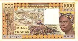C OTE D'IVOIRE 1000 FRANCS De 1987 Pick 107Ah XF/SUP - Côte D'Ivoire