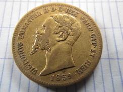20 Lire Or Victor Emmanuel II 1859 Genes (Royaume De Sardaigne) - Piémont-Sardaigne-Savoie Italienne