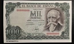 SPAIN 2016 Postcard .NUMISMATICA ,Ticket 1000 Pesetas - 1931-....