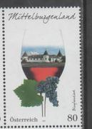AUSTRIA, 2016, MNH, WINES, GRAPES,  WINE REGIONS, MITTELBURGENLAND, 1v - Wines & Alcohols