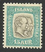 Iceland, 15 A. 1907, Sc # O35, Mi # 28, MH. - Officials