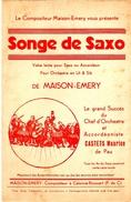 """COLLECTION MUSIQUE - PARTITION - VALSE LENTE - """"SONGE DE SAXO"""" - CASTETS Maurice - Non Classés"""