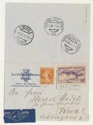 (C14) - Y&T N°PA 10 + 235 - LETTRE AVION PARIS => AUTRICHE 1937 - TARIF 1-20 GRS DU 01/08/1937 ENTETE GRAND HOTEL - France