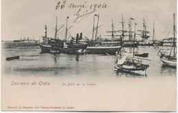 SOUVENIR DE CRETE  LA PORT DE LA CANEE  EN 1904 - Grecia